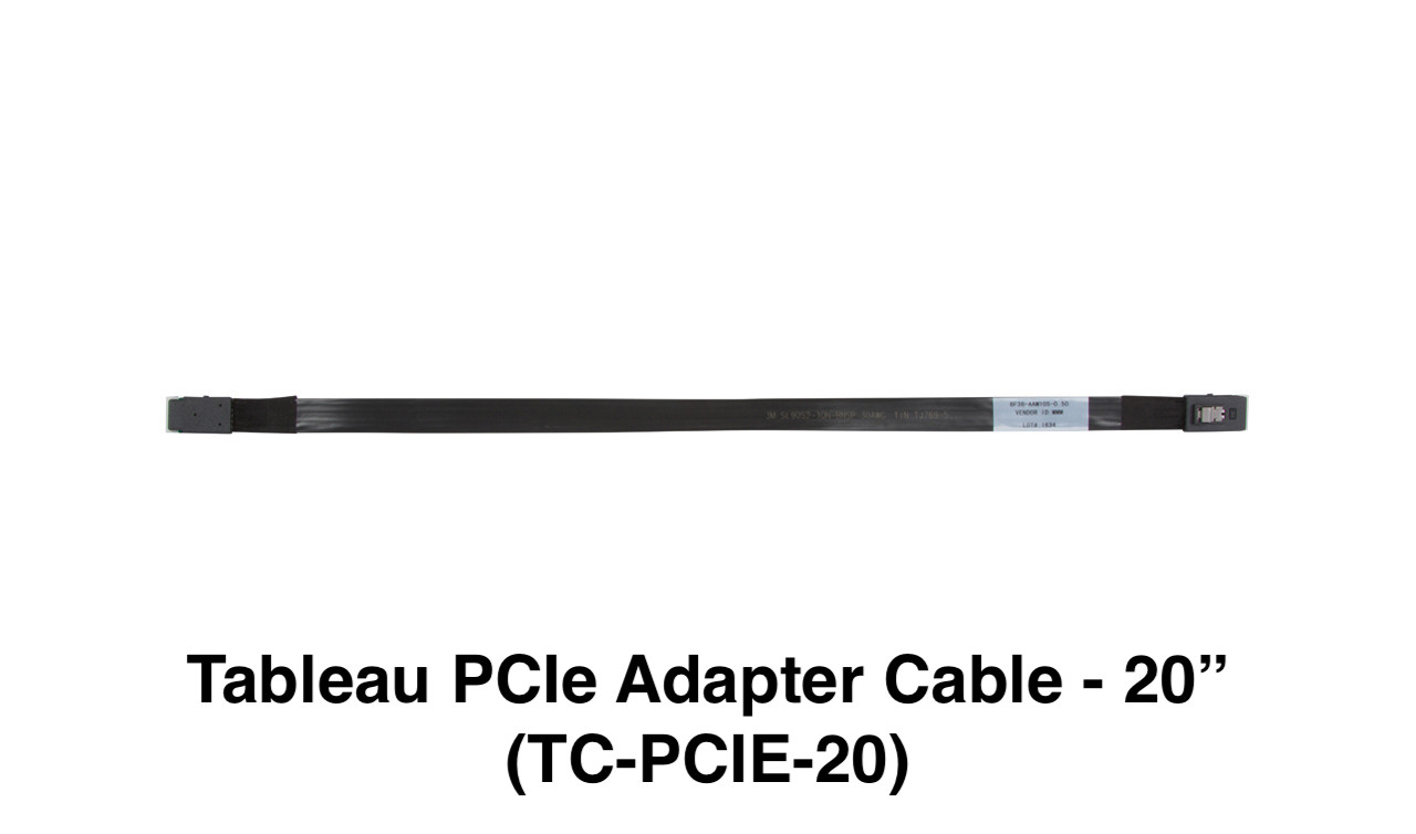 """Picture of Tableau PCIe Adapter Cable - 20"""" (TC-PCIE-20)"""