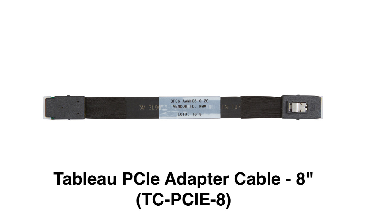 """Picture of Tableau PCIe Adapter Cable - 8"""" (TC-PCIE-8)"""