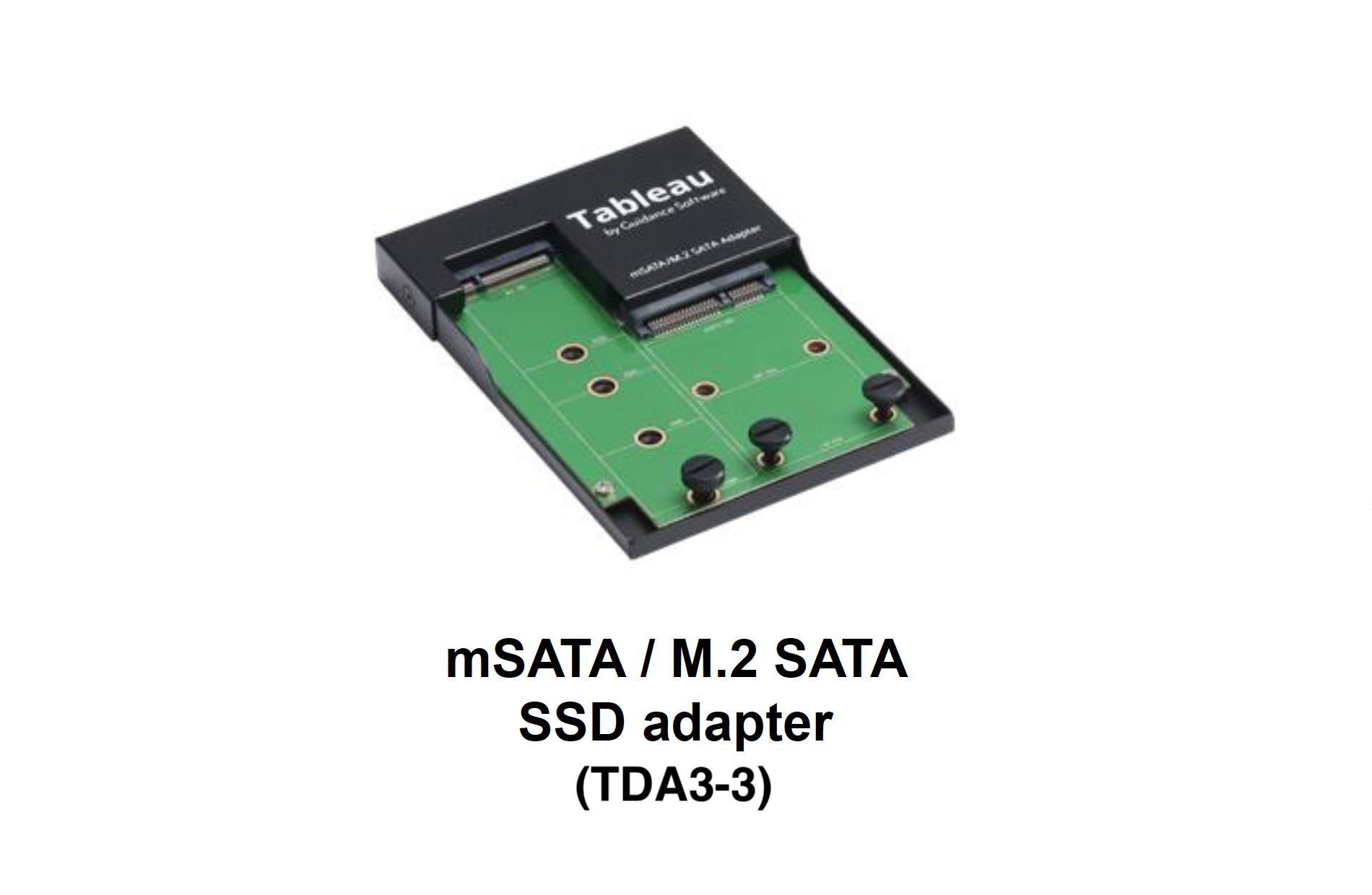 Picture of TDA3-3 mSATA / M.2 SATA SSD Adapter